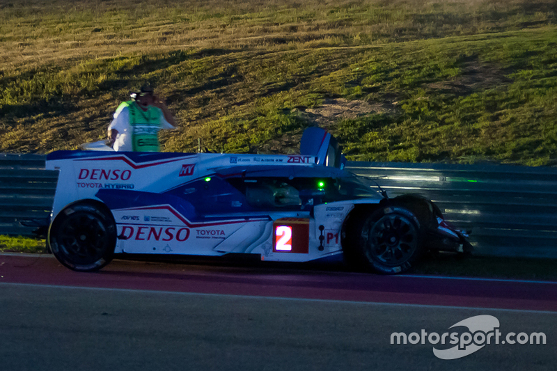 #2 Toyota Racing Toyota TS040 Hybrid: Alexander Wurz, Stéphane Sarrazin, Mike Conway crashed out