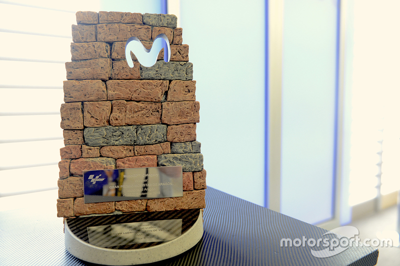 Aragon GP Moviestar trophy designed by Jorge Lorenzo