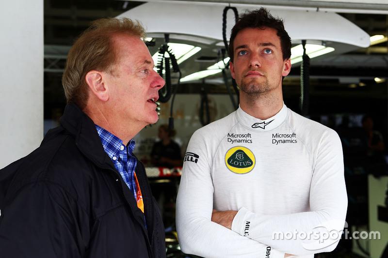 Jonathan Palmer, mit Sohn Jolyon Palmer, Lotus F1 Team, Test- und Ersatzfahrer