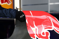 Eine Gottesanbeterin in der Red Bull Racing Garage