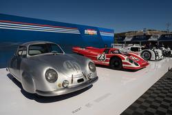 Porsche 356 SL von 1949, Porsche 917K von 1970, Porsche 919 Hybrid von 2014