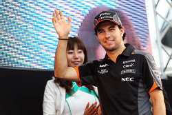 Sergio Perez, Sahara Force India F1 on the fans stage