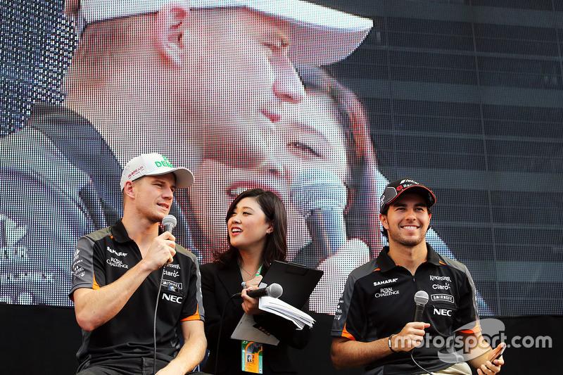 Ніко Хюлкенберг, Sahara Force India F1 та товариш по команді Серхіо Перес, Sahara Force India F1 раз