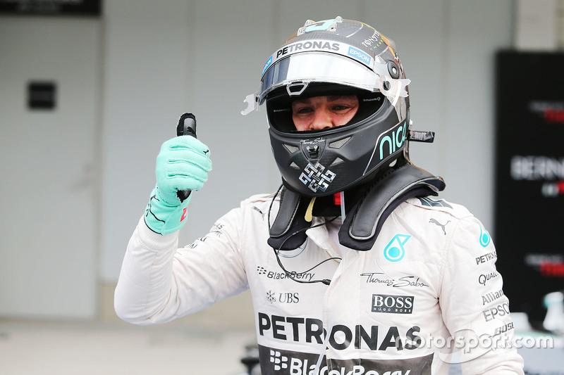 Ніко Росберг, Mercedes AMG F1 Team святкує свій поул