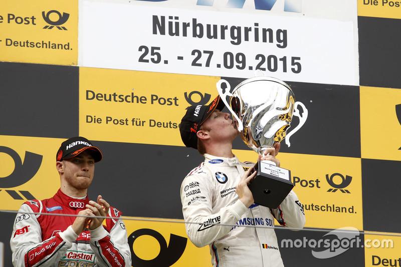 Podium: winner Maxime Martin, BMW Team RMG, second place Edoardo Mortara, Audi Sport Team Abt
