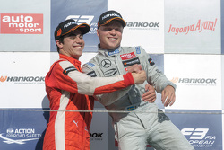 Podium: 1. Felix Rosenqvist, Prema Powerteam; 2. Lance Stroll, Prema Powerteam