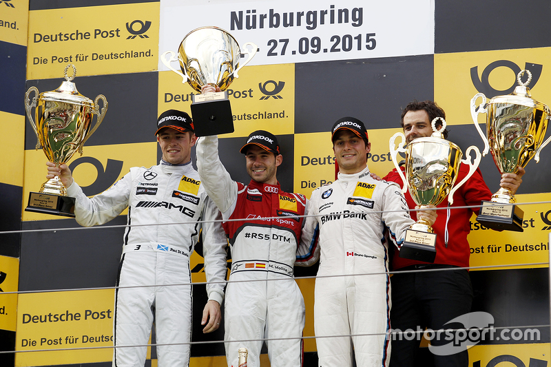 Podium: winner Miguel Molina, Audi Sport Team Abt, second place Paul di Resta, HWA AG Mercedes AMG,
