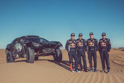 Себастьен Лёб, Даниэль Элена, Карлос Сайнс и Лукас Круз, Peugeot 2008 DKR16