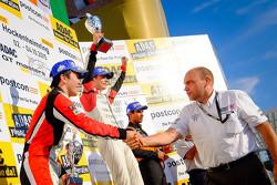 Podium: winner Louis Deletraz, Josef Kaufmann Racing, second place Ukyo Sasahara, ART Junior Team, third place Jehan Daruvala, Fortec Motorsports