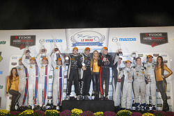PC podium: winners Mike Guasch, Tom Kimber-Smith, Andrew Palmer, second place Mike Hedlund, Renger van der Zande, Mirco Schultis, Alex Popow, third place Marc Drumwright, Tomy Drissi, Don Yount, Johnny Mowlem