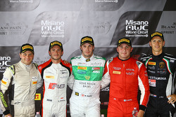 Polesitter: Marco Seefried and Norbert Siedler, Rinaldi Racing with Stéphane Richelmi, Belgian Audi Club Team, Marko Asmer, GT Russian Team and Jeroen Mul, GRT Grasser Racing Team