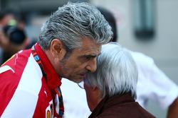 Берни Экклстоун и Маурицио Арривабене, руководитель команды Ferrari