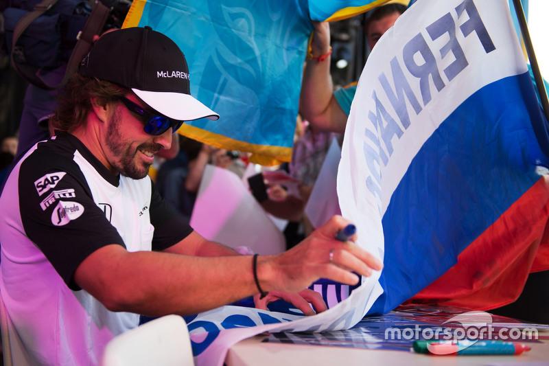 Фернандо Алонсо, накануне Гран При России