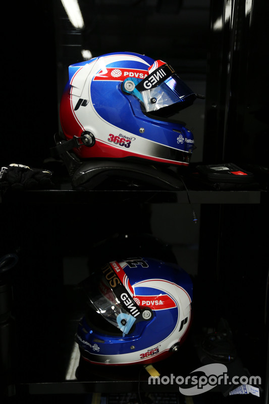 The helmets of Jolyon Palmer, Lotus F1 Team Test and Reserve Driver