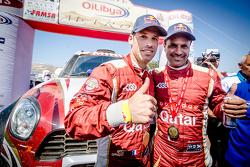 Ganadores #300 Mini: Nasser Al-Attiyah y Matthieu Baumel celebran