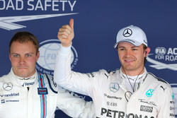 Valtteri Bottas, Williams F1 Team y Nico Rosberg, Mercedes AMG F1 Team