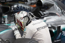 Il vincitore Lewis Hamilton, Mercedes