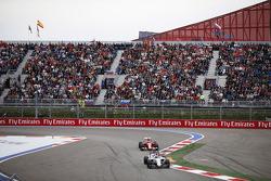 Valtteri Bottas, Williams en Kimi Raikkonen, Ferrari