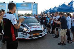 I vincitori Kajetan Kajetanowicz e Jaroslav Baran, Ford Fiesta R5