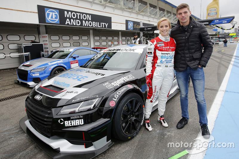 Mikaela Ahlin-Kottulinsky ve erkek arkadaşı Max Verstappen, Red Bull Racing