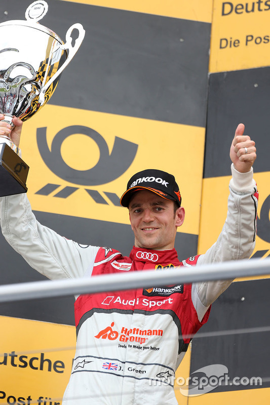 Podium: second place Jamie Green, Audi Sport Team Rosberg Audi RS 5 DTM