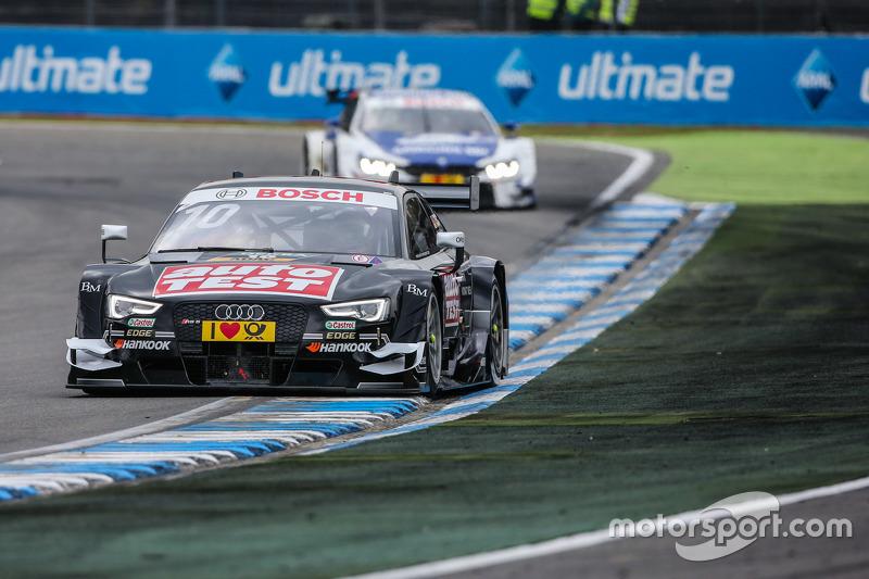 Timo Scheider , Audi Sport Team Phoenix Audi RS 5 DTM  leads