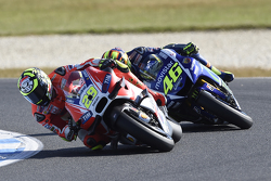 Andrea Iannone, Ducati Team y Valentino Rossi, Yamaha Factory Racing