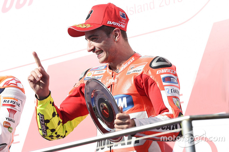 Podium: third place Andrea Iannone, Ducati Team