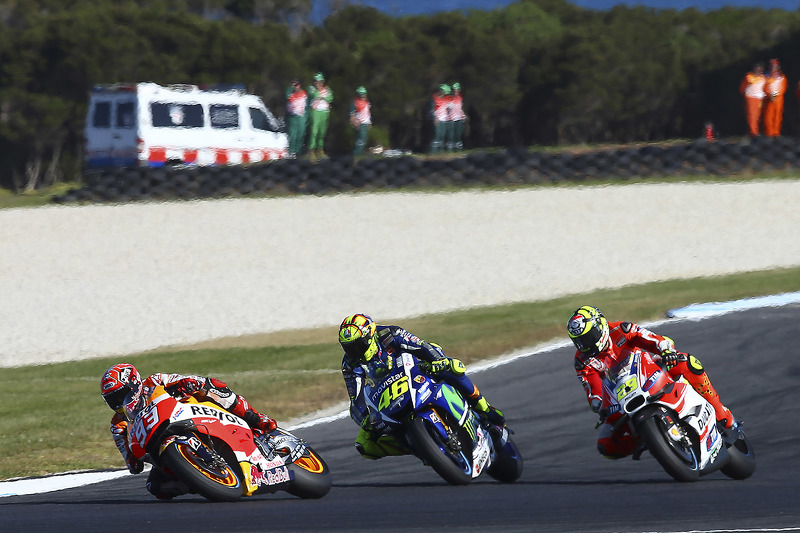 Марк Маркес, Repsol Honda Team, Валентіно Россі, Yamaha Factory Racing, Андреа Янноне, Ducati Team