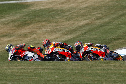 Андреа Янноне, Ducati Team, Марк Маркес, Repsol Honda Team, Дани Педроса, Repsol Honda Team