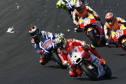 Andrea Iannone, Ducati Team hits a seagull