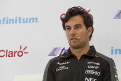 Sergio Pérez, Sahara Force India enuna conferencia de prensa en la Ciudad de México