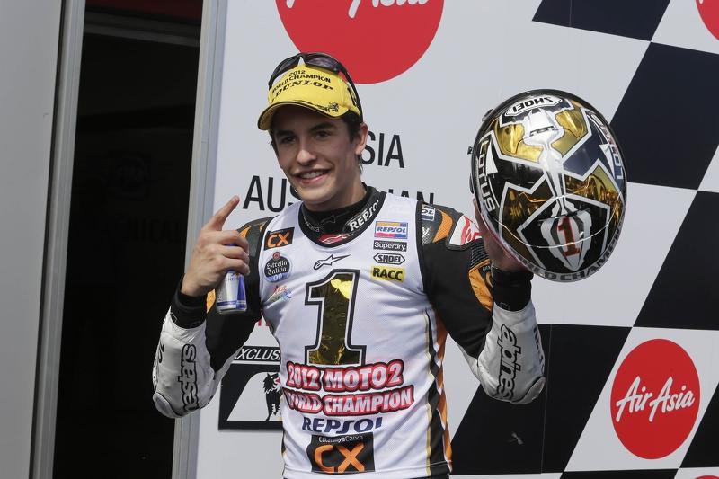 El campeón del mundo de Moto2, Marc Márquez, CatalunyaCaixa Repsol Suter
