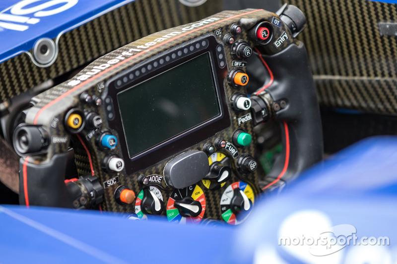 Sauber C34 steering wheel