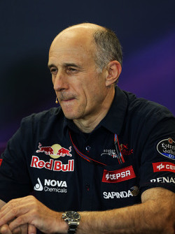 Franz Tost, Scuderia Toro Rosso Director del Equipo en la Conferencia de prensa FIA