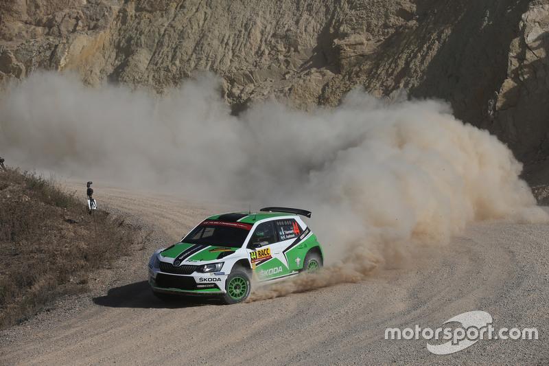 Pontus Tidemand and Emil Axelsson, Skoda Motorsport Skoda Fabia R6