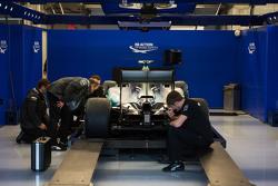 A Mercedes AMG F1 W06 in scruitineering