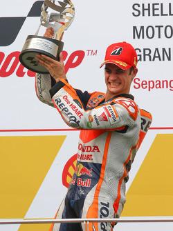 Podio: il vincitore Dani Pedrosa, Repsol Honda Team