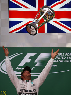 Race winner and World Champion Lewis Hamilton, Mercedes AMG F1