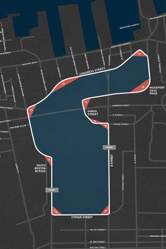 Map route для IndyCar's Boston Grand Prix