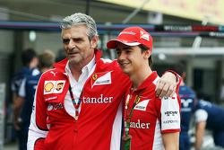 Maurizio Arrivabene, Ferrari teambaas met Esteban Gutierrez, Ferrari test- en reserverijder