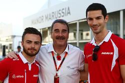 Уилл Стивенс, Manor Marussia F1 Team, Найджел Мэнселл и Александр Росси, Manor Marussia F1 Team