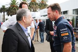 Жан Тодт, президент FIA и Кристиан Хорнер, руководитель Red Bull Racing Team