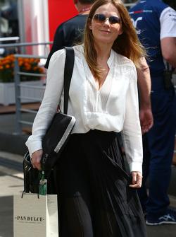 Geri Halliwell, vrouw van Christian Horner, Red Bull Racing teambaas