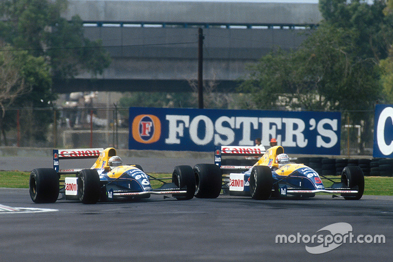 Riccardo Patrese y Nigel Mansell, Williams