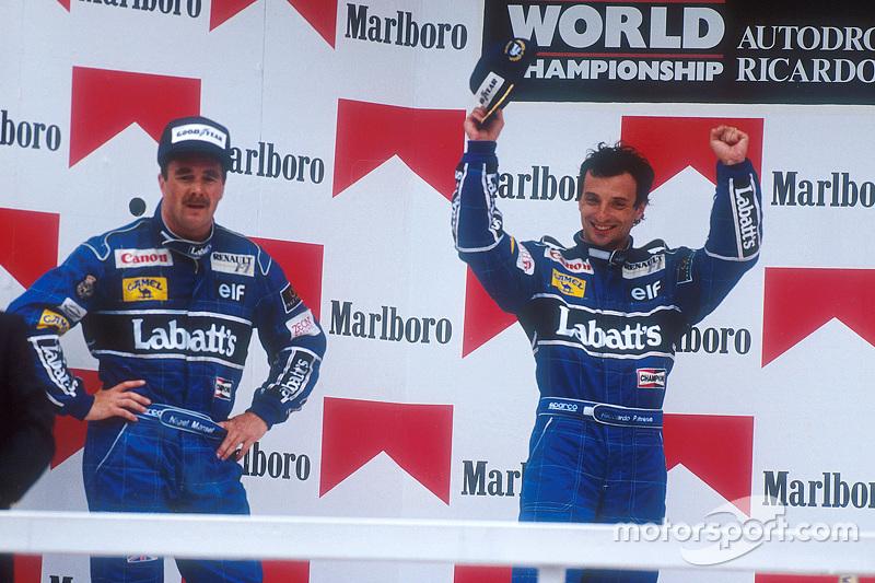 1991: 1. Riccardo Patrese, 2. Nigel Mansell, 3. Ayrton Senna