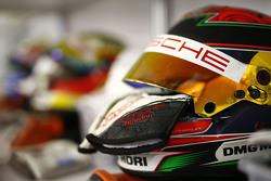 Le casque de Brendon Hartley, Porsche Team