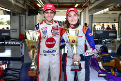 Pietro Fittipaldi with Tatiana Calderon