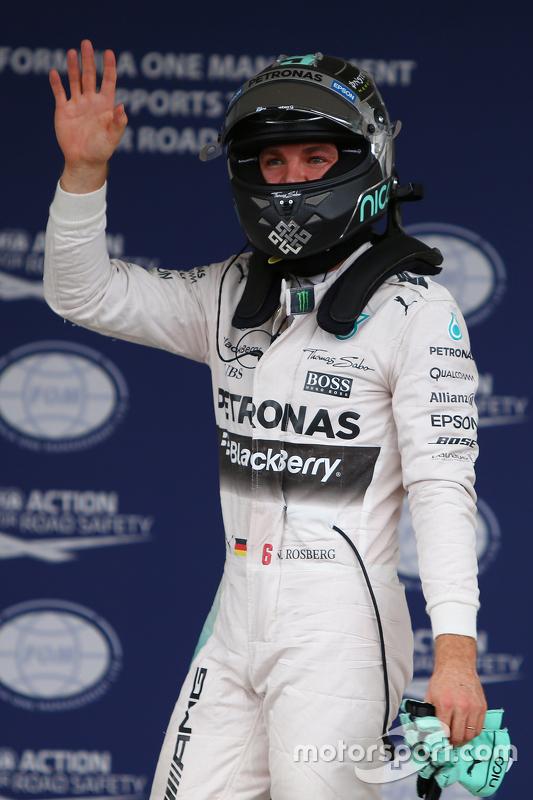 Polezitter Nico Rosberg, Mercedes AMG F1 W06