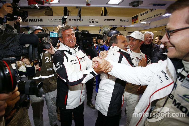 Fritz Enzinger, Head of Department LMP1 Porsche Team with Andreas Seidl, Team Principal Porsche Team